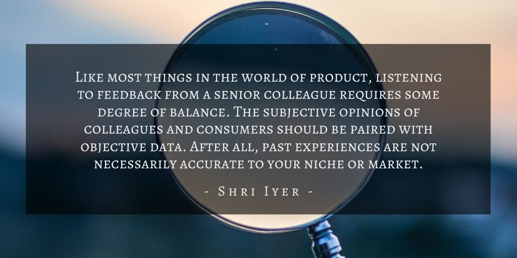 Shri Iyer – San Francisco Product Biases Quote 4